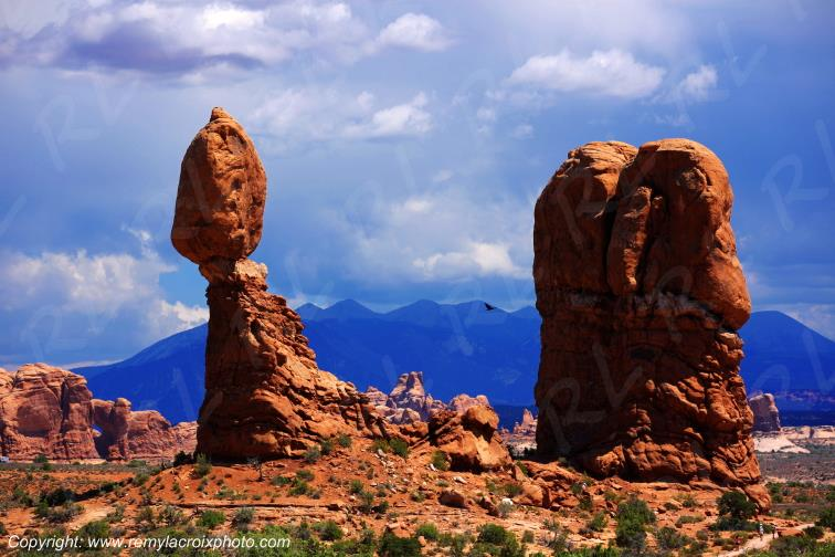 Balanced Rock Arches National Park Utah USA