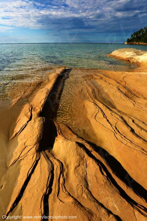 Pictured Rocks National Lakeshore Lake Superior Michigan USA