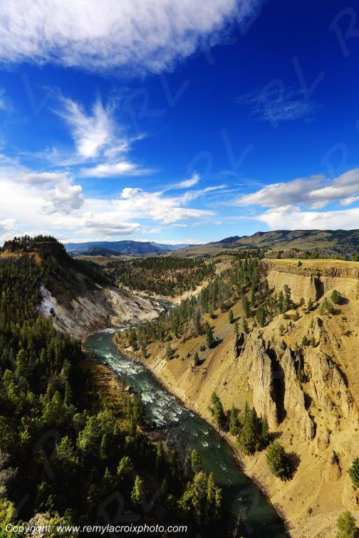 Vue vers Tower-Roosevelt,Yellowstone Nat'l Park,Wyoming,USA