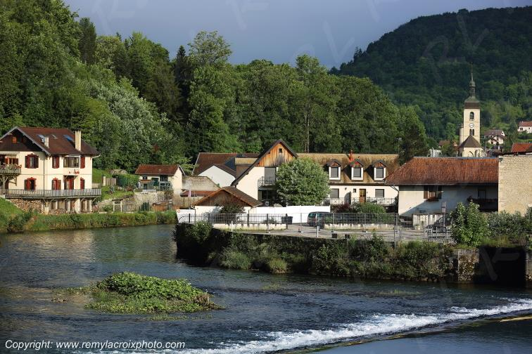 Ornans,vallée de la Loue,Doubs,France