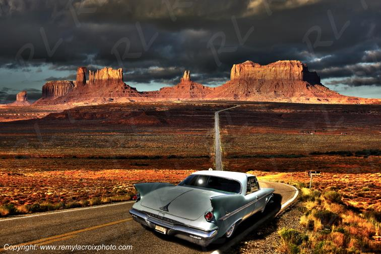 Road to Monument Valley Chrysler Imperial 1960 Utah USA www.remylacroixphoto.com