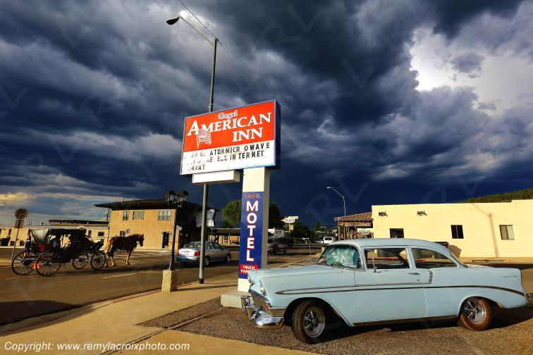 Royal American Motel,Route 66,Chevy Bel Air 56,Williams,Arizona,USA