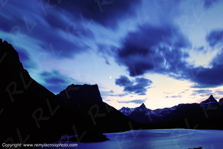Saint Mary Lake Glacier National Park Montana USA www.remylacroixphoto.com