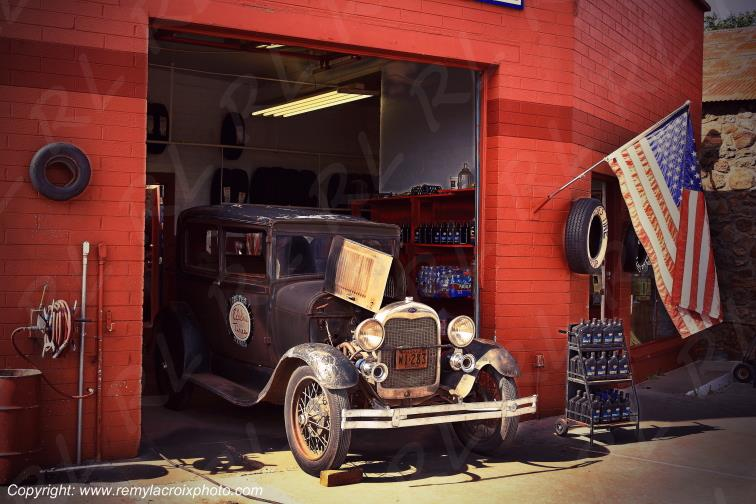 Ford A 1929 Williams Eddies Tires Route 66 Arizona USA www.remylacroixphoto.com