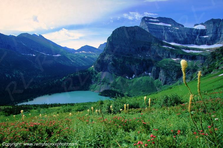 Grinnell Lake Rocky Mountains Glacier National Park Montana USA