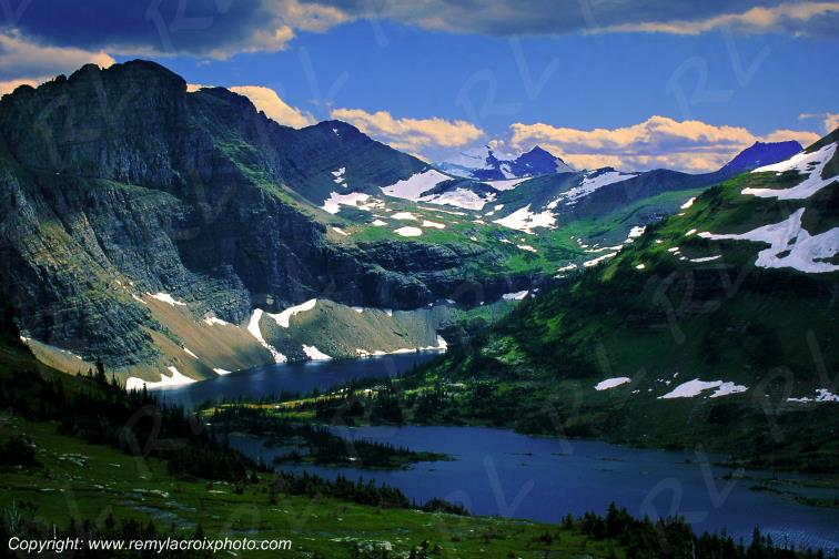 Hidden Lake Rocky Mountains Glacier National Park Montana USA