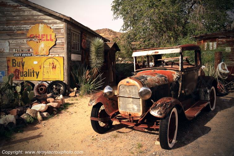 Hackberry Trading Post,Old Ford T,Route 66,Arizona,USA