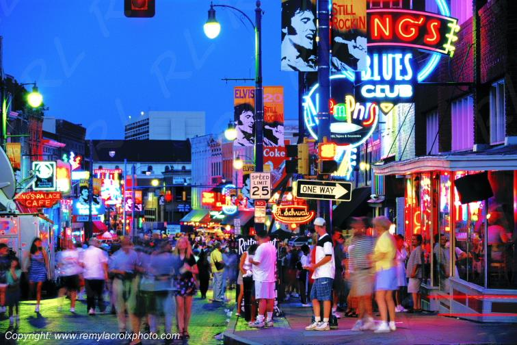 Beale Street Elvis Presley blues rock'n'roll Memphis Tennessee USA
