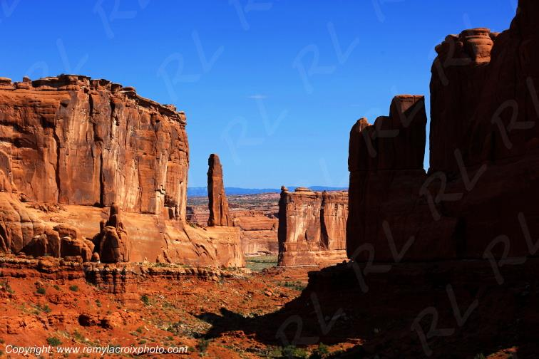 Park Avenue Arches National Park Utah USA