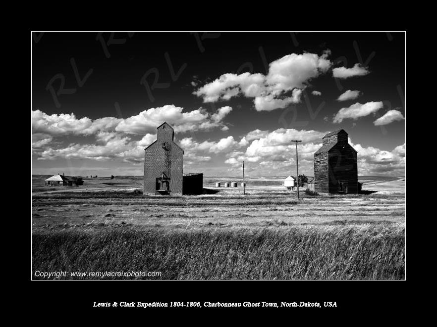Lewis & Clark Expedition 1804-1806 Charbonneau Ghost-Town North Dakota USA