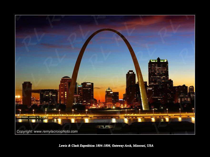 Lewis & Clark Expedition 1804-1806 Gateway Arch St Louis Missouri USA