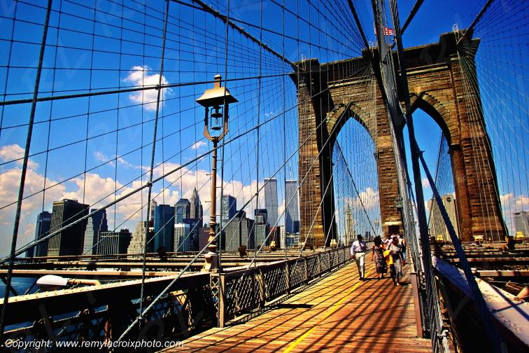 Brooklin Bridge,Manhattan,New-York city,New-York,USA