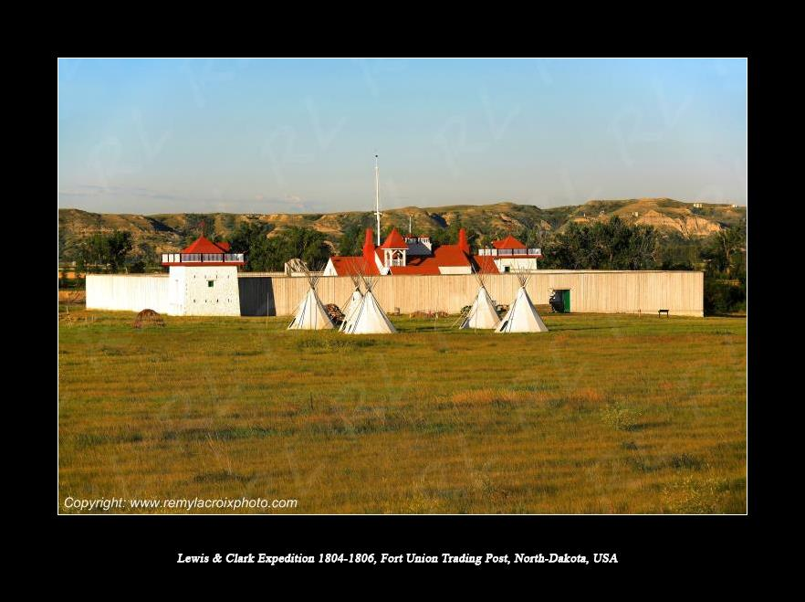 Lewis & Clark Expedition 1804-1806 Fort Union Trading Post North Dakota USA