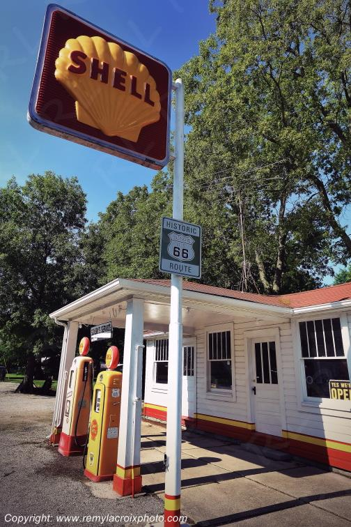 The Soulsby Service Station,Route 66,Mt Olive,Illinois,USA