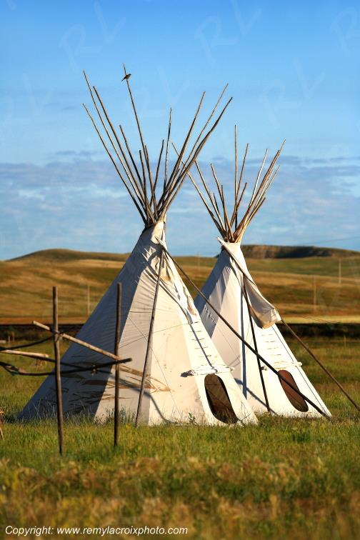 Tipis,Fort Union Trading Post,North-Dakota,USA