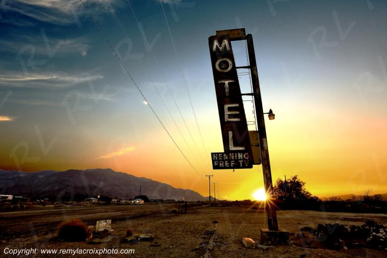 Bagdad Cafe Signs Route 66 Newberry Springs Californie USA