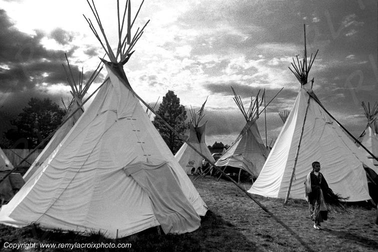 Tepee Camp Cheyenne Wyoming USA