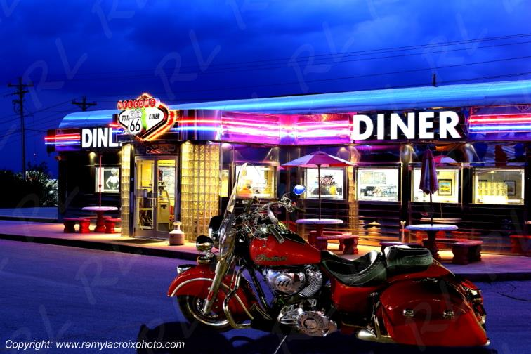 Route 66 Diner,Indian Motorcycle,St Robert,Missouri,USA