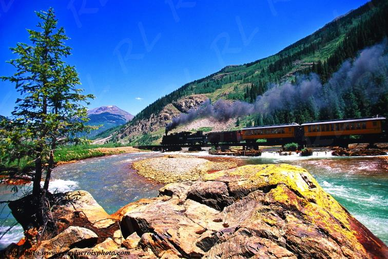 Steam train Silverton Durango Colorado USA www.remylacroixphoto.com