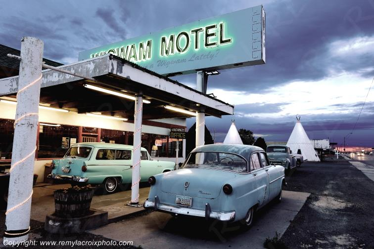Wigwam Motel,Ford Fordor 1952,Holbrook,Route 66,Arizona,USA