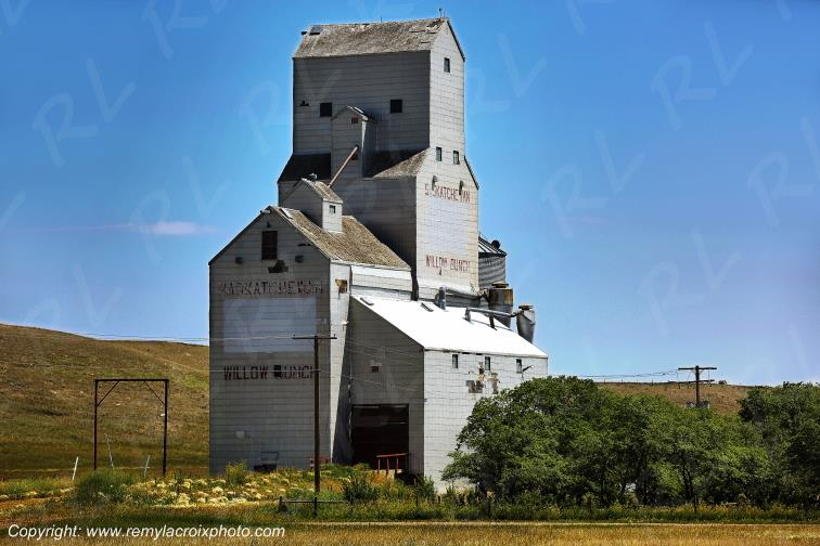 Silos de Willow Bunch,Saskatchewan,Canada