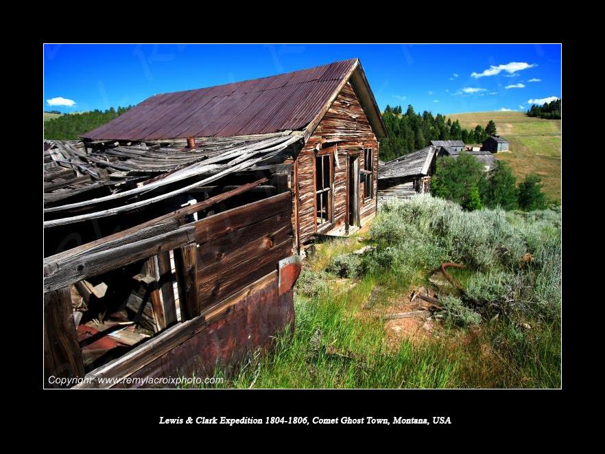 Lewis & Clark Expedition 1804-1806 Comet Ghost Town Montana USA
