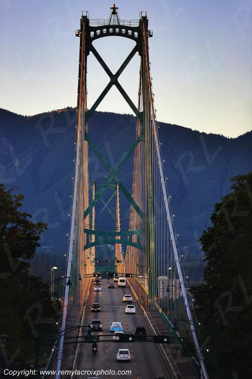 Lions Gate Bridge,Vancouver,British Columbia,Canada