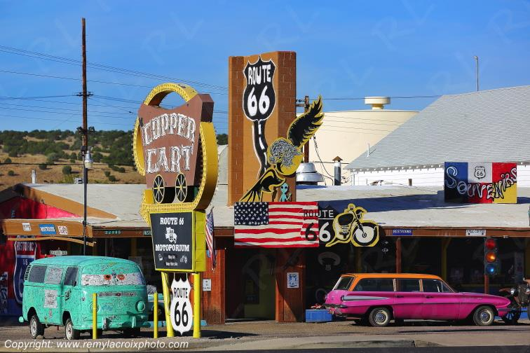 Copper Cart Restaurant,Route 66,Seligman,Arizona,USA