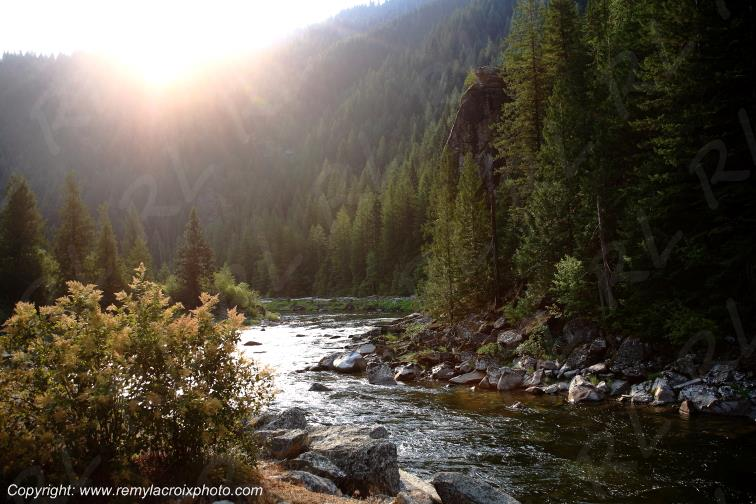 Lochsa River Lolo Pass Rocky Mountains Idaho USA www.remylacroixphoto.com