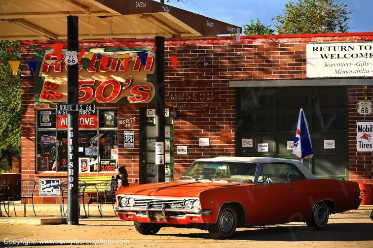 Chevrolet Impala SS Convertible 66,Seligman,Route 66,Arizona,USA