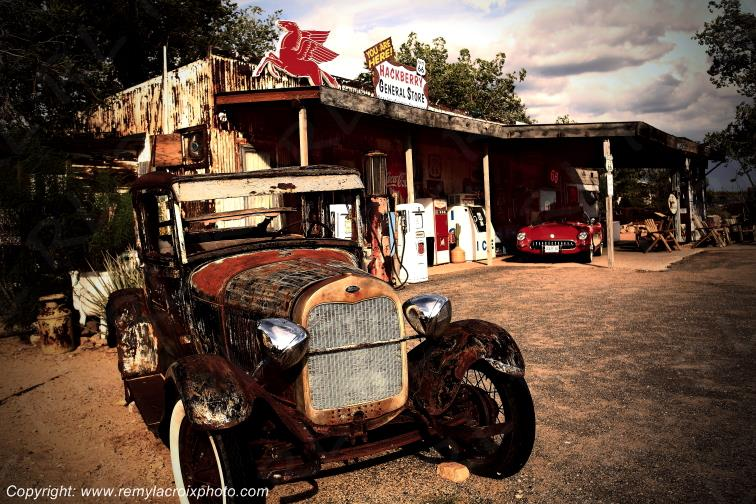 Hackberry Trading Post Ford T Route 66 Arizona USA