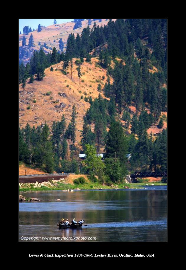 Lewis & Clark Expedition 1804-1806 Lochsa River near Orofino Idaho USA