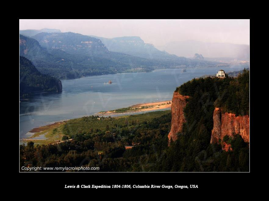 Lewis & Clark Expedition 1804-1806 Columbia River Gorge Oregon USA