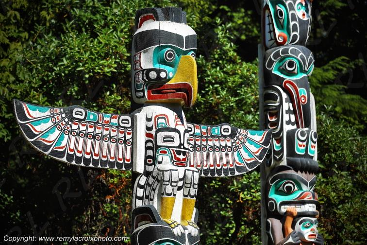 Totem Pole,Stanley Park,Vancouver,British Columbia,Canada