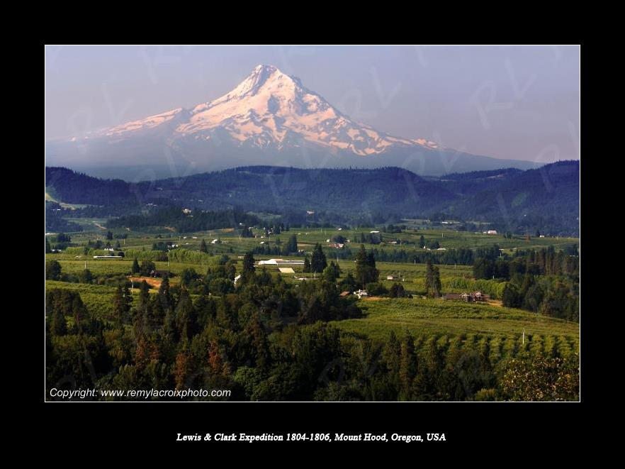 Lewis & Clark Expedition 1804-1806 Mount Hood Cascade Range Oregon USA