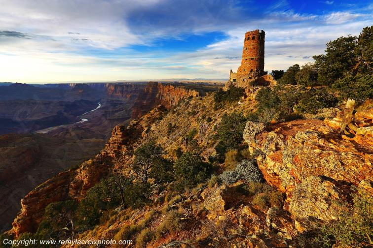 Desert View Watchtower,Grand Canyon National Park,Arizona,USA