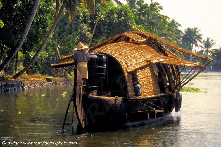 Les Backwaters,Kerala,Inde