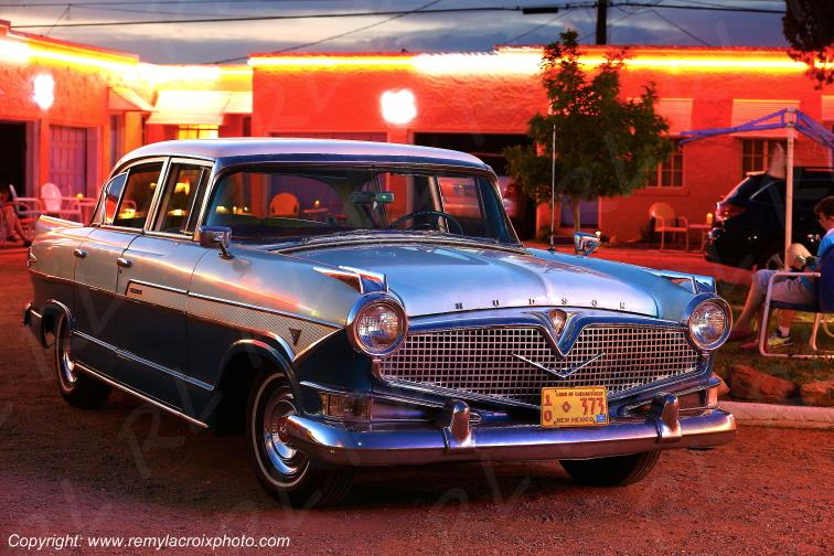 Hudson Hornet Hollywood 1957 Blue Swallow Motel Route 66 Tucumcari New Mexico USA