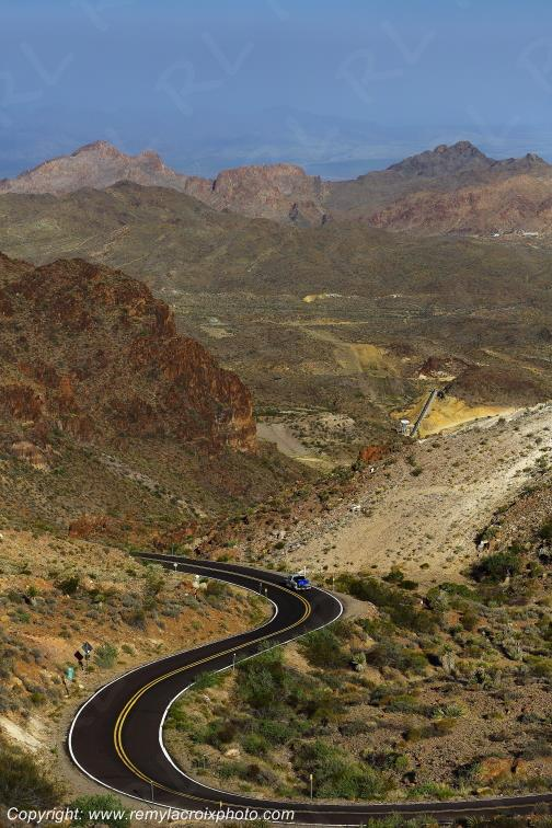 Mojave desert,Sitgreaves Pass,Route 66,Arizona,USA