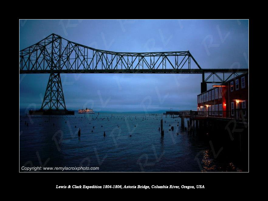 Lewis & Clark Expedition 1804-1806 Columbia River Astoria Bridge Oregon USA