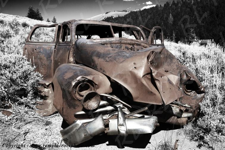 Old Wreck Comet Ghost Town Montana USA