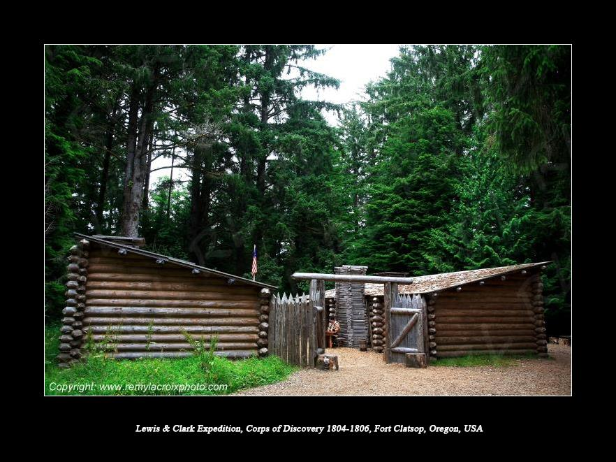 Lewis & Clark Expedition 1804-1806 Fort Clatsop Oregon USA