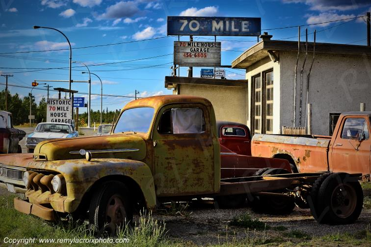 Pickup Truck Ford wreck 70 Mile House Gas Station British Columbia Canada www.remylacroixphoto.com #ford #pickuptruck #canada