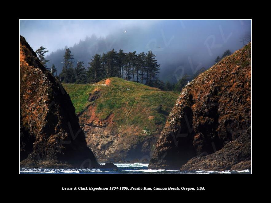 Lewis & Clark Expedition 1804-1806 Cannon Beach Oregon USA