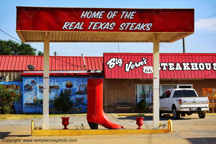 Big Vern's Steackhouse,Route 66,Shamrock,Texas,USA
