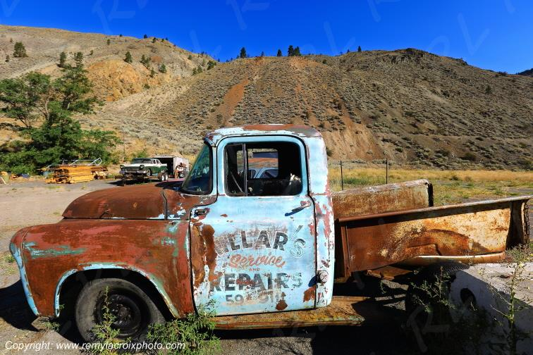 Truck vers Spences Bridge,British Columbia,Canada