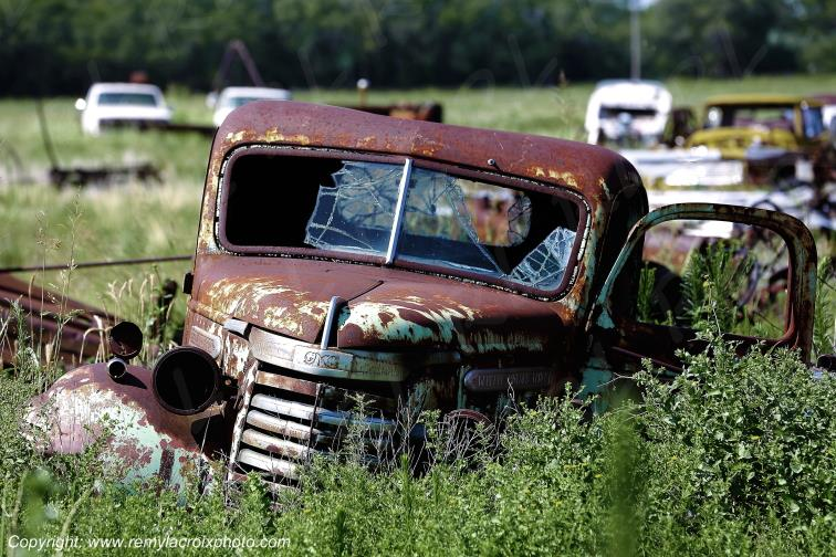 GMC Pick-up Truck 1940 Wreck Route 66 Erick Oklahoma USA
