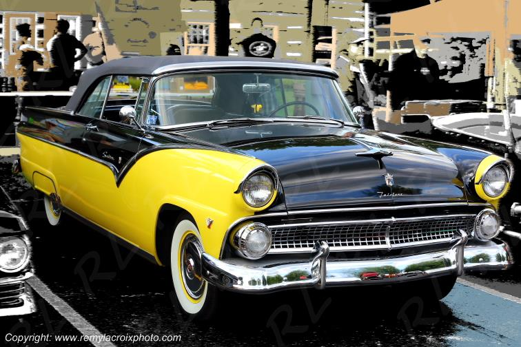 Ford Fairlane Sunliner Convertible 19 55 Indiana USA