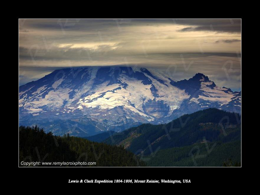 Lewis & Clark Expedition 1804-1806 Mount Rainier Washington USA