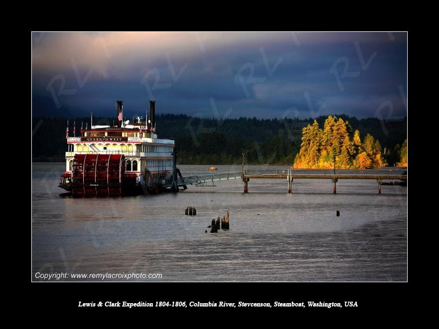 Lewis & Clark Expedition 1804-1806 Queen of the West Steamboat Columbia River Stevenson Washington USA